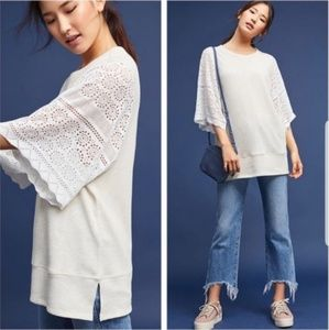 Akemi + Kin crochet sleeve tunic top sz M